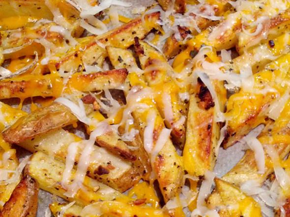 Saludables patates fregides al forn
